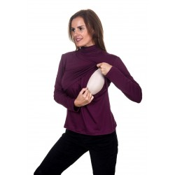 Winter Berry nursing top