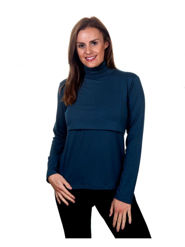 Atlantic Teal breastfeeding top